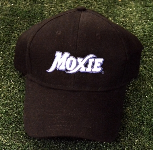 Black Moxie Cap with Blue Outline Logo