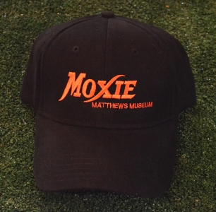 Black Moxie Cap with Solid Orange Logo/Tagline